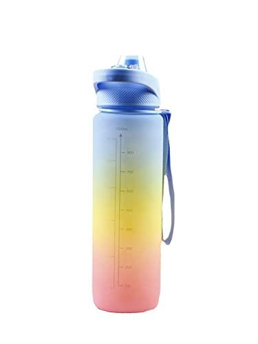 STST Borraccia per Sport Fitness, Borraccia per Bevande a Tenuta stagna Senza BPA Riutilizzabile per Ragazze, Ragazzi, Ciclismo,Blue Pink