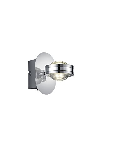 Trio Leuchten LED Wandleuchte Lentil 272570206, Metall chrom, inkl. 2x 2.3 Watt LED