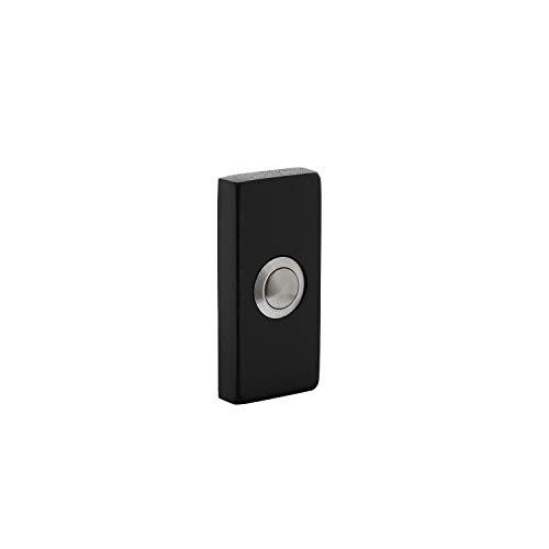 Intersteel Deurbel Rechthoekig Verdekt 65 X 30 X 10mm, Roestvast Staal, Zwart
