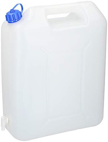 Vani Wasserkanister mit Hahn Kanister + gratis Solinger Messer Trinkwasserkanister Wassertank Camping (20 L.)