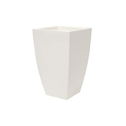 Teraplast Quadro Veneto Fioriera, Plastica 100%, Bianco, 65 cm