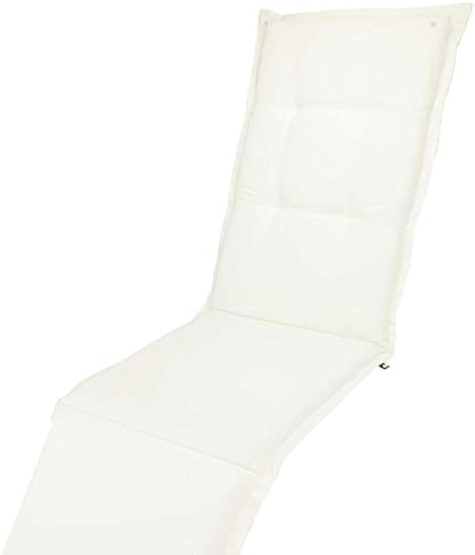 KOPU Deckchair Auflage Prisma Ivory  Auflagen für Liegestuhl  Wei Garten Kissen 200 x 50 cm  19 Einfache Farben  Robuster Schaumstoff für zustzlichen Komfort