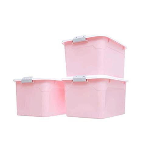 Dabeigouzzhiwl scatole per armadio, Organizzatore del sacchetto di archiviazione dei vestiti di grande capacità, cabina di immagazzinaggio dei vestiti dell'organizzatore di 3 confezioni. (Blu, Grigio,