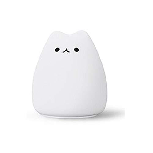 Mini-LED-Nachtlicht, bunte Silikon-Spielzeug-kleine nette Katze, Füttern Expression Licht, Kitten Expression kleine Tischlampe (Color : Popular cat)