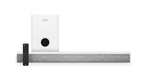 SPC Suana Sound Bar barra de sonido color blanca con 100W de potencia y subwoofer inalámbrico