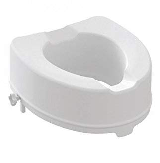 Rialzo WC, AlzaWater Anatomico con Sistema di Fissaggio Laterale (Senza coperchio, Altezza 14cm)