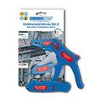 WEICON 52881002 Elektroinstallations-Set 2-Abisolierzange 5 Kabelmesser No. S 4-28, Blau/rot