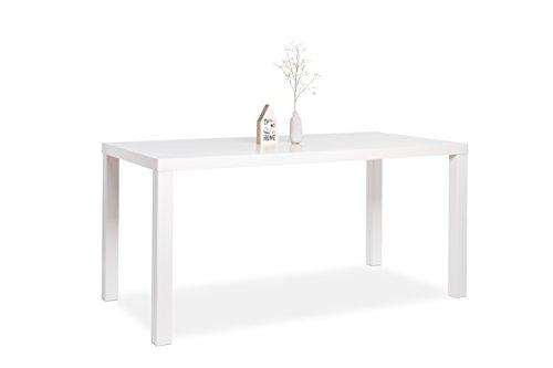 AVANTI TRENDSTORE - Tavolo da pranzo opaco bianco, ca. 160x75x80 cm