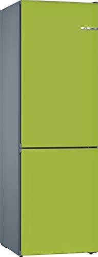 Bosch KVN39IHEA Serie 4 VarioStyle Frigorífico independiente/E / 203 cm / 238 kWh/año/Puerta frontal intercambiable verde lima / 279 L / 89 L congelador/NoFrost/VitaFresh