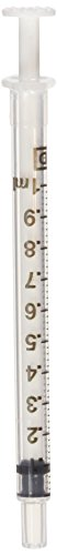 Becton Dickinson 305217 Oral Dispensing Syringe with Tip Cap General Purpose 1ml (Non-Sterile) Clear 100 Count
