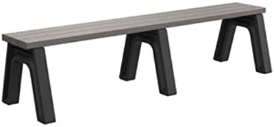 Black Christopher Knight Home 304080 Kate Outdoor Grey Oak Finish Light Weight Concrete Dining Bench