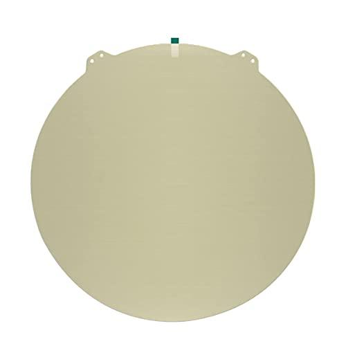 Toaiot - Molla in acciaio rotonda Dia, 265 x 265 mm, lamiera di acciaio, letto riscaldabile per Flsun QQ-S Delta stampante 3D, solo piastra di costruzione con PEI nessuna superficie magnetica