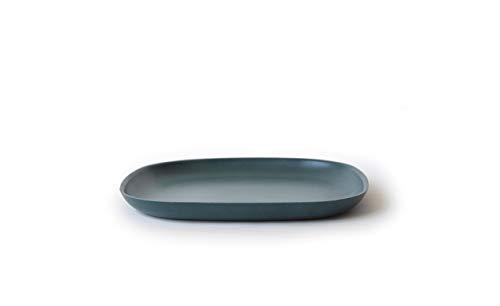 EKOBO Gusto Desserteller, 18 x 18 cm, blue abyss, aus Bambus / Melamin, FSC-zertifiziert, BPA-frei, spülmaschinengeeignet