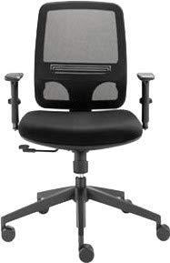 Dauphin Trend Office Valo Sync Plus VO 9240 Bürodrehstuhl, Bürostuhl, Bürosessel, Chefsessel, Schwarz, Netzrücken Neu