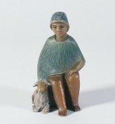 Gelenberg-Krippe Hirte, sitzend, mit Schaf - Grösse/Maßstab: 18 cm