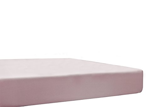 Blanc des Vosges Uni Jersey Drap housse extensible Coton Petale du 90x190 cm à 110x220 cm