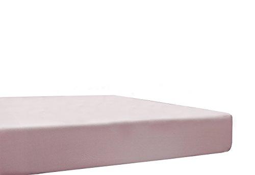 Blanc des Vosges Uni Jersey Drap housse extensible Coton Pétale 70x190 cm à 80x220 cm
