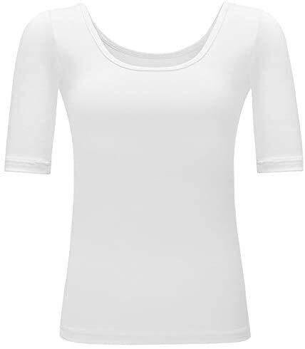 Equipo de la aptitud Las mujeres cortos de entrenamiento deportivo ropa camisas Yoga Operando estiramiento de la aptitud de secado rápido de manga corta de Ajuste a la camiseta blanca L masaje corpora