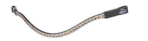 Busse Stirnband Diamond, Warmblut, Schwarz/Strass-Braun-weiß