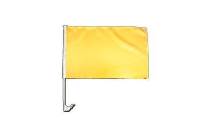 Digni Drapeau de Voiture Unicolore Jaune - 30 x 40 cm