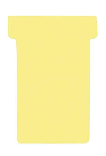 Franken GmbH TK204 T-Karten (Größe 2, Kartenträgermodule, 59 mm, Schachtel) 100 Stück, gelb