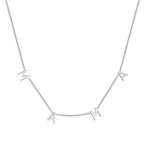 RWQIAN Adjustable Letter Necklace for Women MaMa Necklaces for Women...