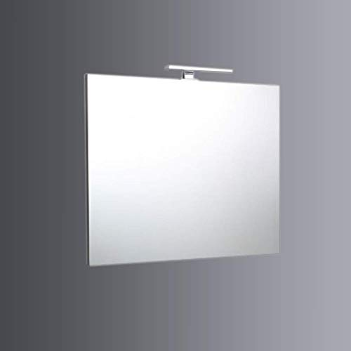 SPECCHIERA BAGNO A FILO 90 x 70 CM CON LUCE A LED REVERSIBILE