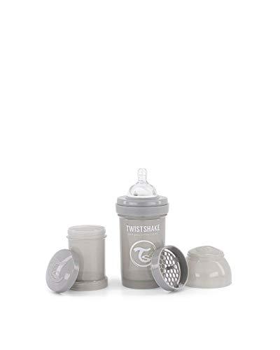 Twistshake 78254 - Biberón, color pastel gris