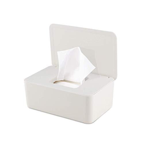 Caja de toallitas húmedas Escritorio doméstico Sellado a Prueba de Polvo Toallitas húmedas con Tapa Caja vacía Caja de Almacenamiento de toallitas húmedas Caja de toallitas