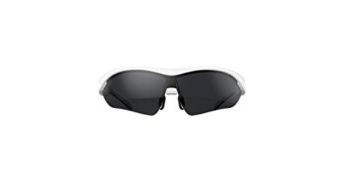 PRECORN Bluetooth Sonnenbrille Smart Bluetooth Sport Sonnenbrille Stereo Bluetooth Headset Brandneue Touch-Control-Technologie Modern und stylisches Gestell in weiß von der Marke PRECORN