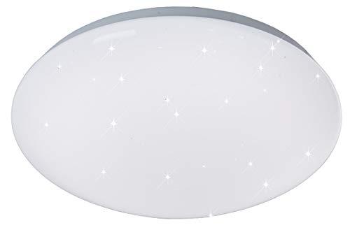 ESTO Lighting 746046 A+, Deckenleuchte, 15 W, Weiß/Klar/Weiß, 30 x 30 x 9.5 cm