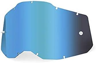 100% ゴーグル用 交換ミラーレンズ アンチフォグ RACECRAFT2 /ACCURI2 /STRATA2 対応 正規輸入品 WESTWOODMX (ブルー)