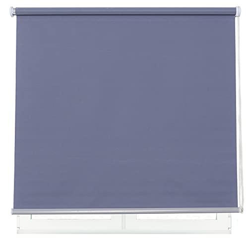 DALINA Estor Enrollable para Ventana Translúcido Liso de Poliéster (Gris, 120x180cm)