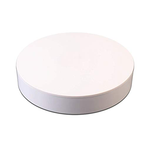 JRPT Profesional Base Giratoria Eléctrica,360° Automático Plataforma Rotatoria para Exhibición de Joyas/Blanco...