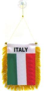 AZ FLAG Wimpel Italien 15x10cm - ITALIENISCHE Mini Flagge 10 x 15 cm - Auto Pennant spezielle Auto