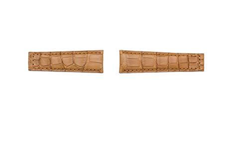 Bracelet brise-vue véritable alligator compatible avec Rolex GMT/Daytona/Oyster 20 mm sangle Or