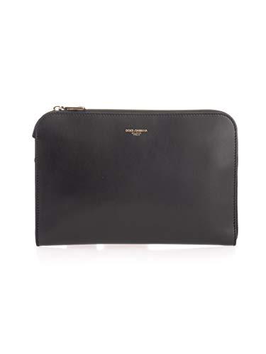 Luxury Fashion | Dolce E Gabbana Uomo BM1751AC95480999 Nero Pelle Pochette | Autunno-inverno 19
