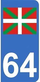 Autocollant Pays Basque euskadi euskal herria Drapeau logo2 Taille 12 cm