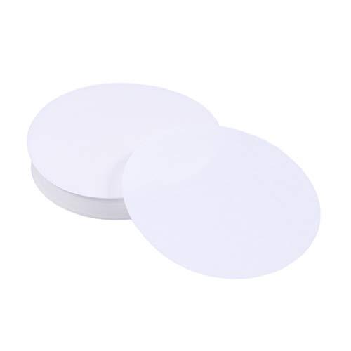 STOBOK 200pcs círculos de papel de filtro cualitativo para los accesorios de laboratorio de la escuela 11cm