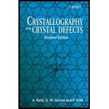 Crystallography & Crystal Defects (00) by Kelly, A - Groves, G W -...