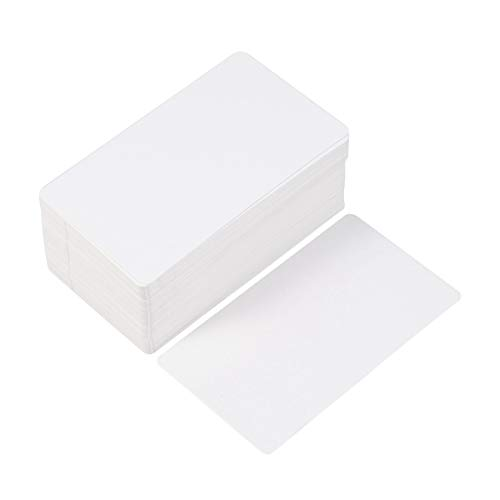 Toyvian Cartulina blanca Cartulina en blanco Tarjeta de mensaje de Kraft DIY Tarjetas postales Tarjetas de índice, alrededor de 100 piezas
