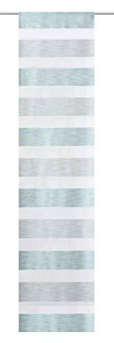 Home Fashion Schiebevorhang Querstreifen Melange, Polyester, Mint, 245 x 60 cm