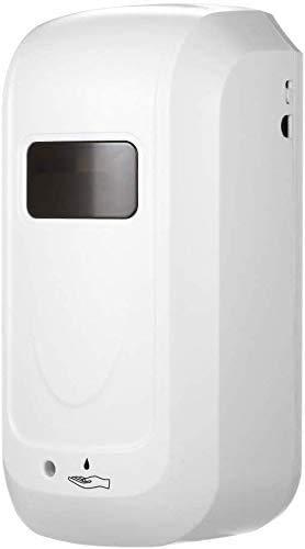 TTPF Dispensador de desinfectante con Sensor 1000ML sin Contacto desinfectante Tipo de Pared dispensador de la máquina de pulverización Aerosol Alcohol Mano desinfección,White
