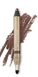 Velvet Eyeliner Pencil by Artisan L'uxe Beauty | Water-Resistant & Smudge Proof | Professional Eye Makeup | Cruelty-Free | Shimmering Bronze Eye Pencil | Shameless