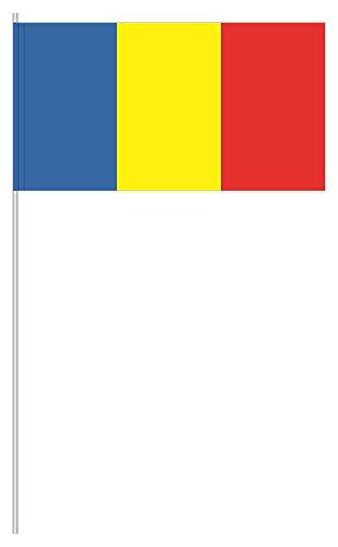 partydiscount24 10 x Papierfähnchen Rumänien