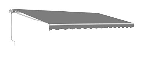 ALEKO AW12X10GY80 Retractable Patio Awning 12 x 10 Feet Gray