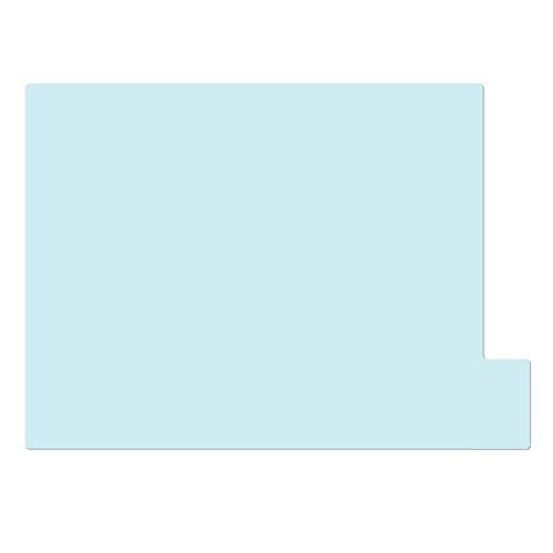 仕切りガイド【A4ヨコ型 [ラテラル] 】書類 棚 カルテフォルダー 仕切り板 整理 トレー 10枚セット (パステルブルー)