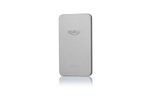 Xoro MPB 1000 Powerbank externer Akku-Ladegerät für Smartphone/Android Phone/Tablet-PC/Apple iPad/iPhone/Handy/PSP/GoPro/GPS (10000mAh, 2X USB) Silber