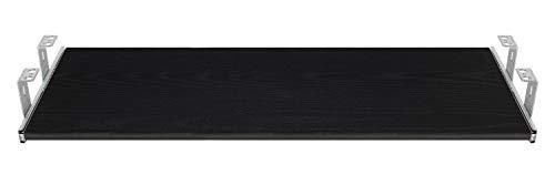 FIX&EASY Tastaturauszug mit Tastaurablage 800X400mm Esche schwarz Dekor, Auszugschienen verzinkt 400mm, Set Ablage mit Auszug für Tastatur Maus Keyboard Laptop