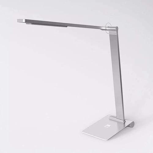 Lámpara de escritorio LED portátil Lámpara de mesa de noche con atenuador táctil Lámparas de mesa que cuidan la vista Atenuación continua Lámpara de mesa grande Escritorio de oficina Bajo consumo de e